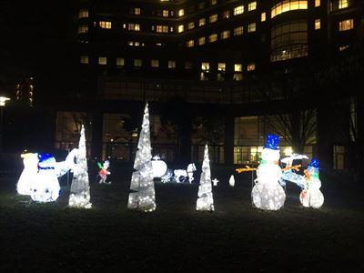 東京都内病院LED装飾