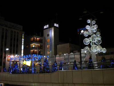 千葉県内某駅前広場のイルミネーション電源・配線工事