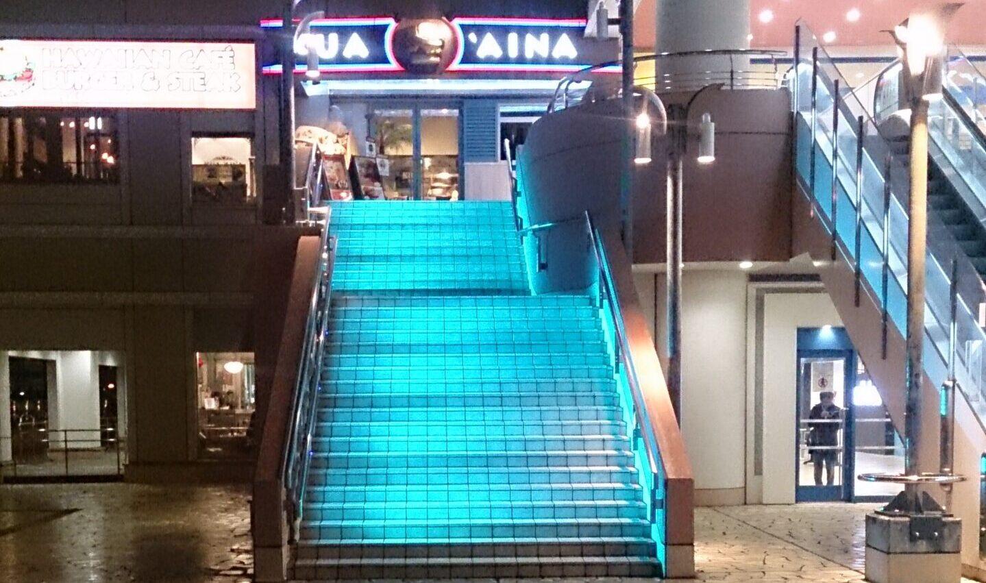LED照明 階段演出 お台場4
