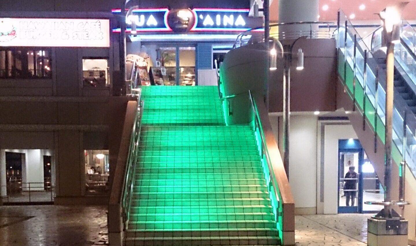 LED照明 階段演出 お台場3